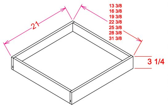 RS24-TypeA RS24  Roll Out Shelf B24