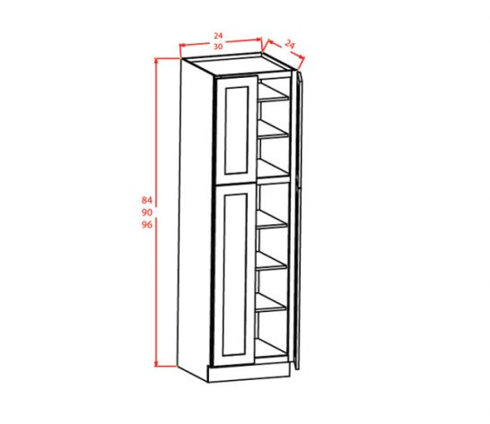 CW-U309624 - Utility Cabinets With Four Doors - 30 inch
