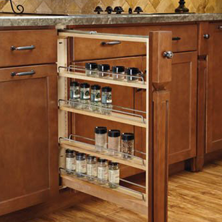 Between-cabinet pullouts