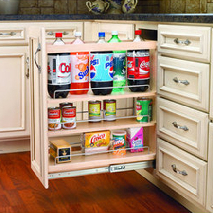 In-cabinet pullouts