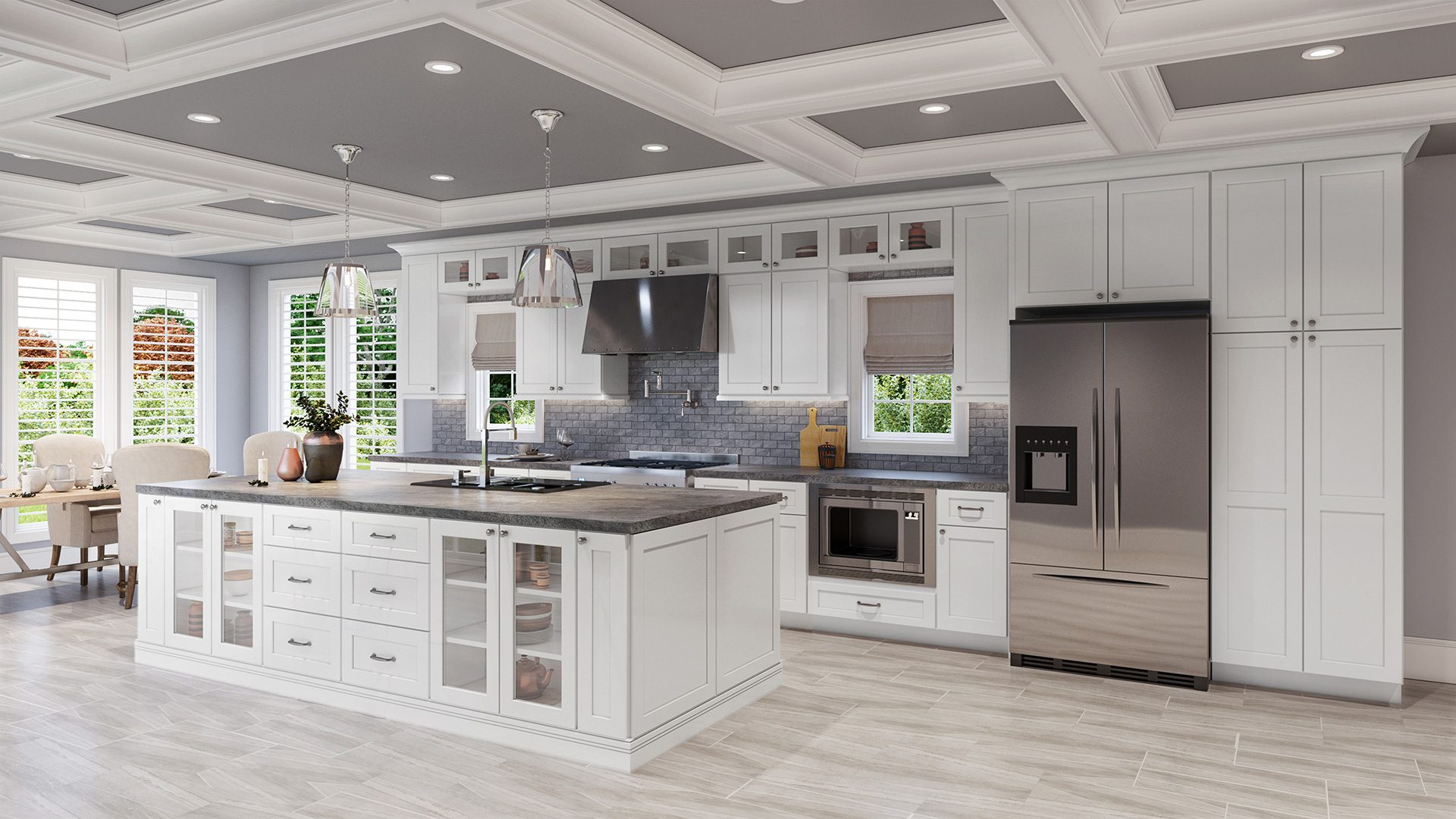 Traditional Shaker-style Kitchen