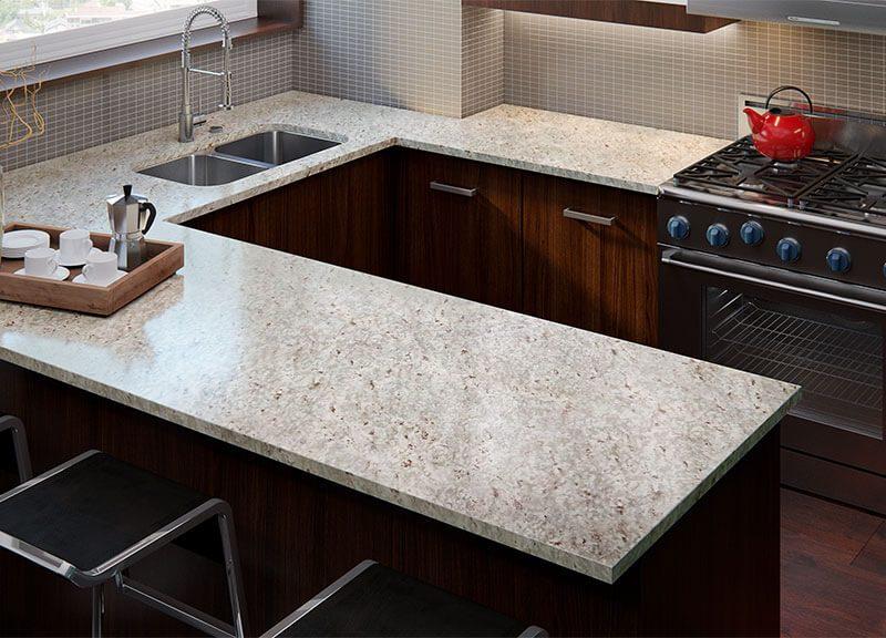 the U-shaped layout kitchen