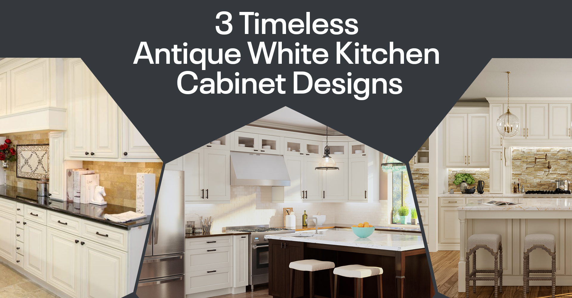 3 Timeless Antique White Kitchen Cabinet Designs