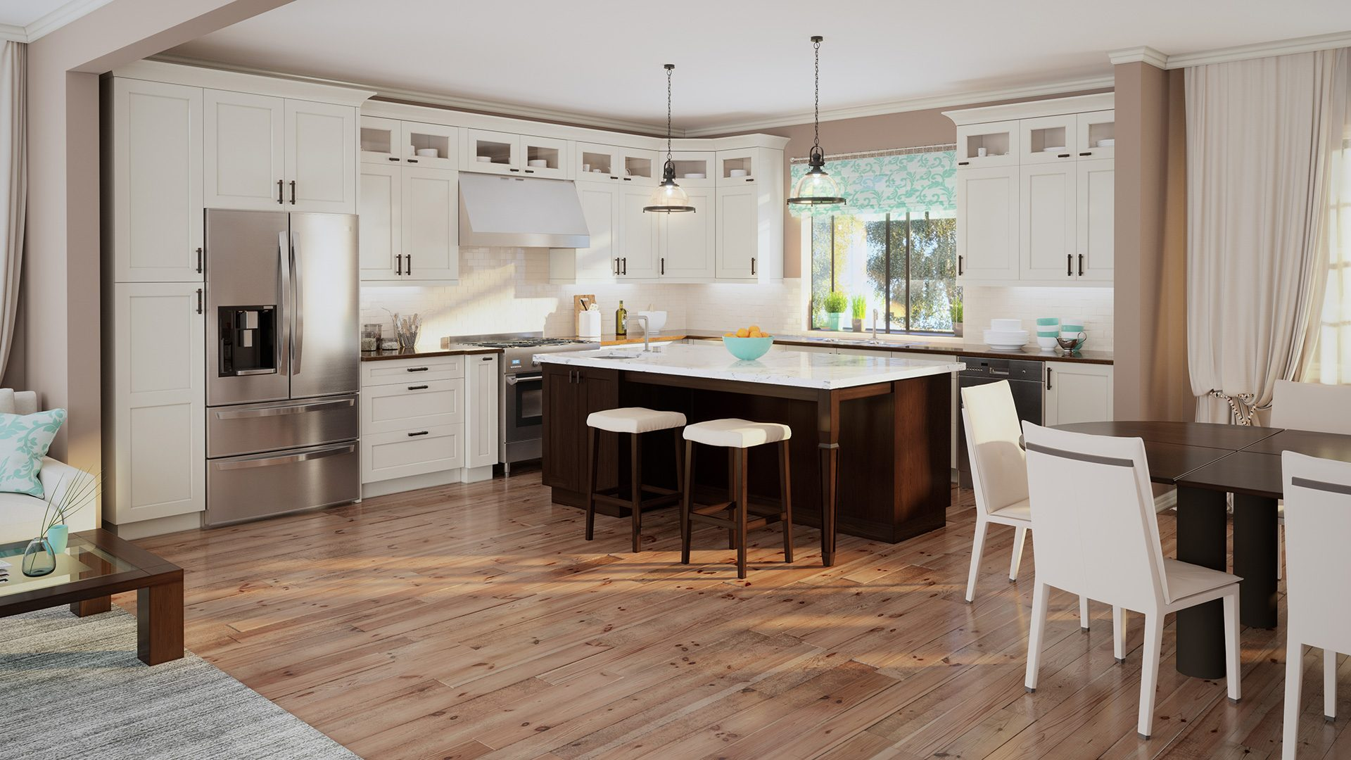Shaker cabinets for a classic kitchen