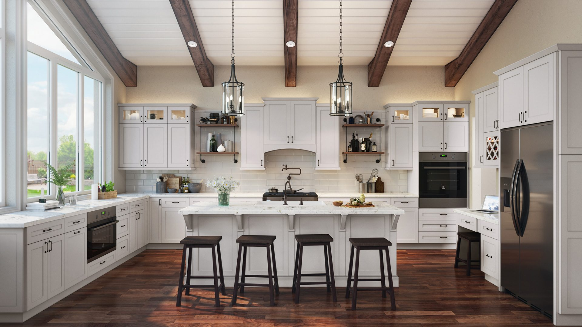 Popularity of white Shaker cabinets