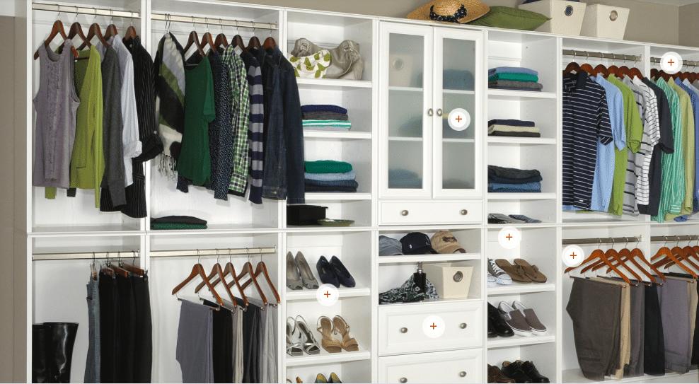 Closet systems organize a basement too