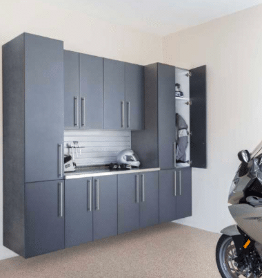 Add function and storage to a disorganized garage