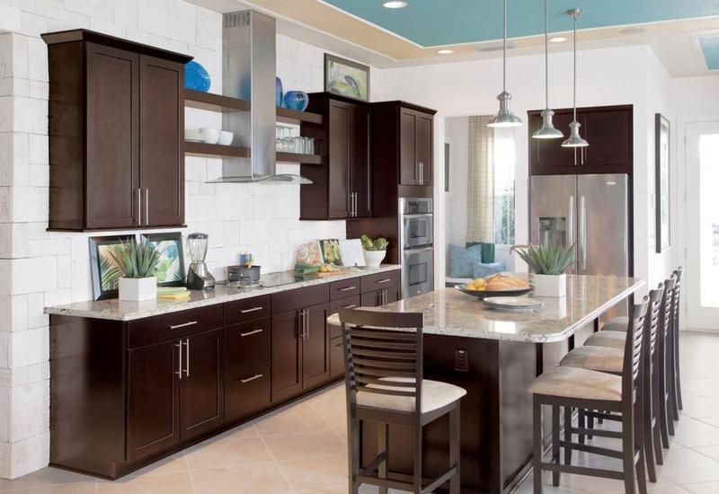 Sonoma maple espresso cabinet